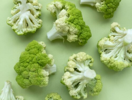 high angle photo of broccoli