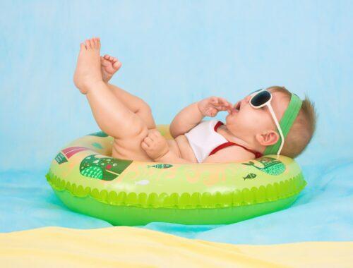 vakantie met een 6 weken oude baby