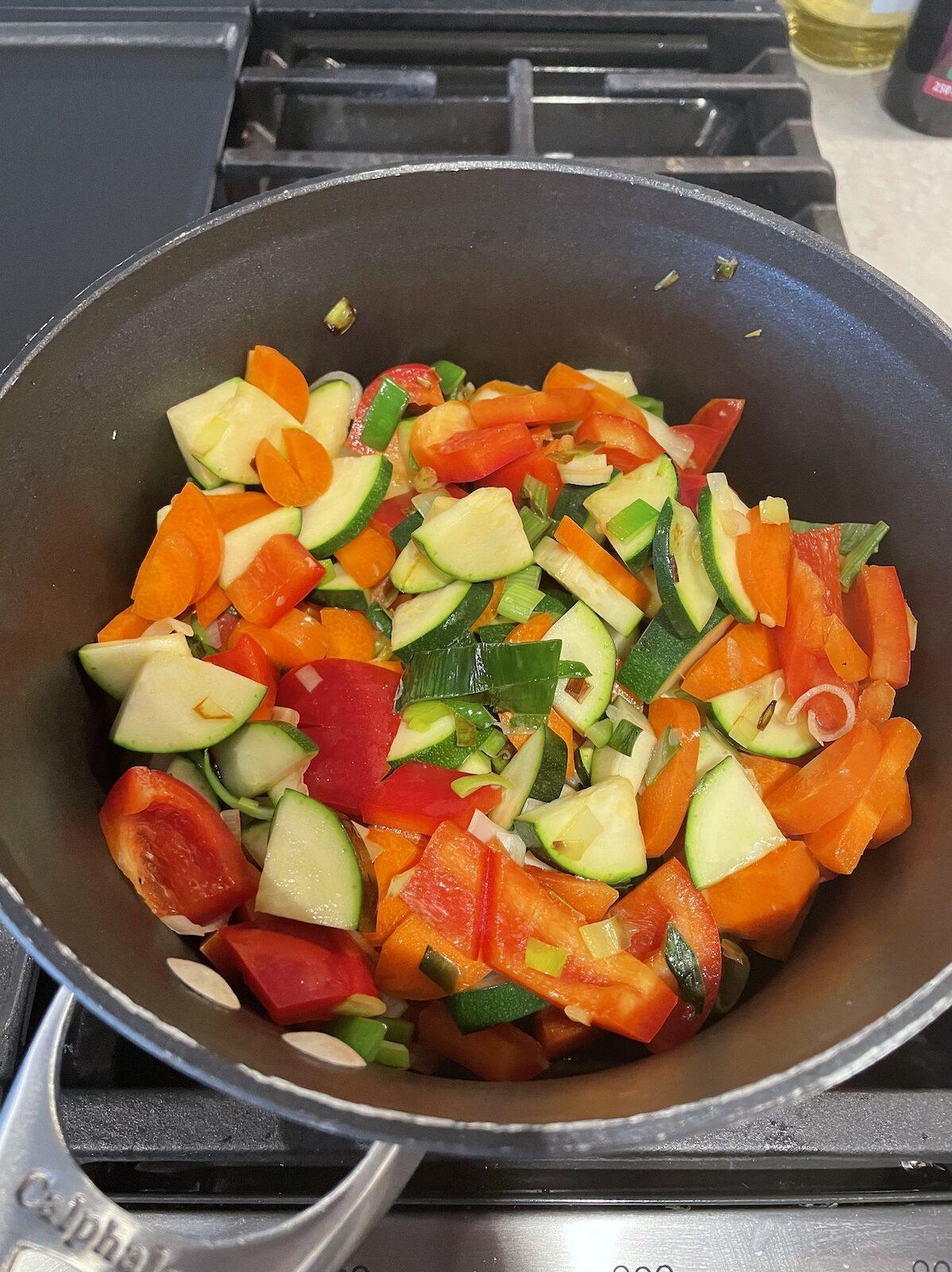 Ingrediënten recept linzen groentestoof baby